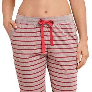 SCHIESSER Damen Hose Jerseyhose lang Bündchen braun-melange Ringel – Bild 2