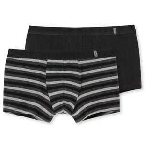 SCHIESSER 2er Pack Herren Shorts Pants 95/5 elastischer Single-Jersey schwarz/grau – Bild 1