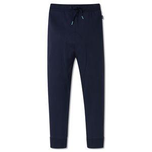 SCHIESSER Jungen Joggpants Hose lang  Bündchen Taschen Sweatware Baumwolle nachtblau – Bild 1