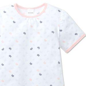 SCHIESSER Mädchen Nachthemd kurzarm Single-Jersey weiß bedruckt Family – Bild 2
