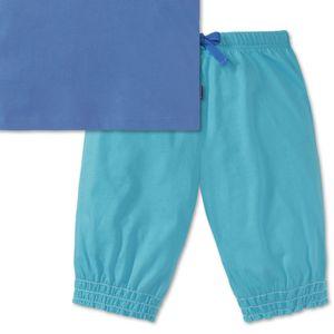 SCHIESSER Mädchen Schlafanzug kurz Single-Jersey T-Shirt mit Bumper-Hose blau bedruckt California – Bild 4