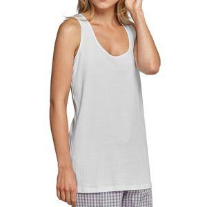 SCHIESSER Damen Trägertop runder Halsausschnitt Jersey weiß – Bild 1