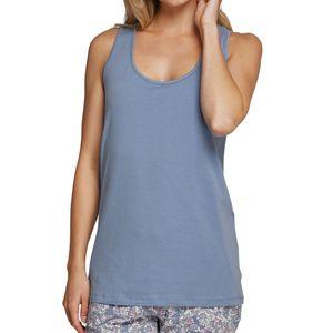 SCHIESSER Damen Trägertop runder Halsausschnitt Jersey jeansblau – Bild 1