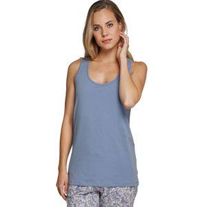 SCHIESSER Damen Trägertop runder Halsausschnitt Jersey jeansblau – Bild 2