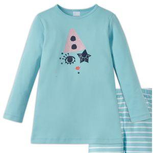 SCHIESSER Mädchen Schlafanzug lang Interlock Jersey Langarmshirt Leggings türkis-blau Zirkus Zampano – Bild 2