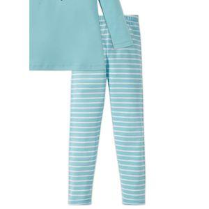 SCHIESSER Mädchen Schlafanzug lang Interlock Jersey Langarmshirt Leggings türkis-blau Zirkus Zampano – Bild 3