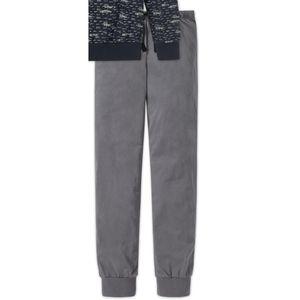 SCHIESSER Jungen Schlafanzug lang Jersey Raglan-Schnitt anthrazit bedruckt Metropolitan – Bild 3
