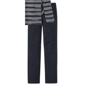 SCHIESSER Jungen Schlafanzug lang Jersey Ringel Used-Look grau Urban Project Metropolitan – Bild 3