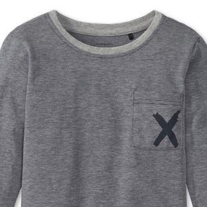SCHIESSER unisex Shirt langarm Jersey Brusttasche Ringel grau meliert X-Motiv Mix & Relax – Bild 2