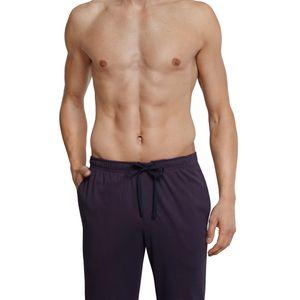 SCHIESSER Herren Hose Loungehose lang Interlock Taschen bordeaux bedruckt  – Bild 3