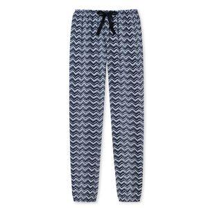 SCHIESSER Damen Hose lang Loungehose Webware graublau gemustert Mix & Relax – Bild 4