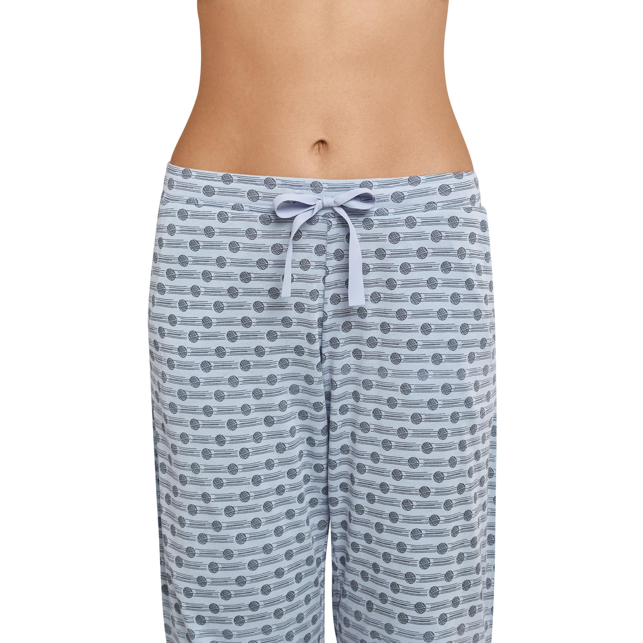 SCHIESSER Damen Hose Jerseyhose 3 4 lang Punkte graublau Mix  amp  Relax –  Bild cbd2b3c173