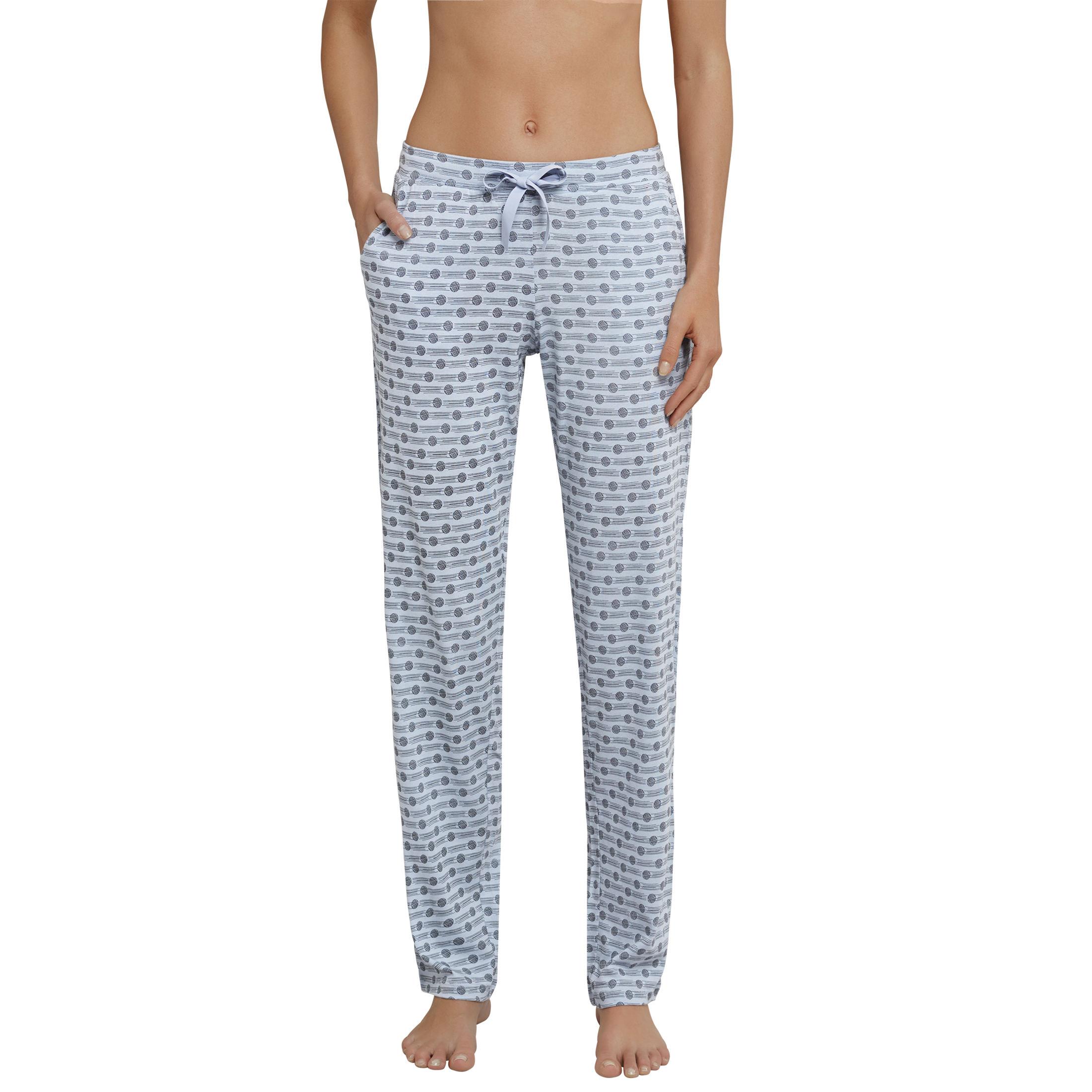 SCHIESSER Damen Hose lang   extra-lang Jersey Punkte graublau Mix   Relax 118760a5ff