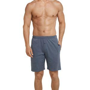SCHIESSER Herren Hose kurz Bermuda Shorts Baumwolle Taschen Interlock anthrazit bedruckt Mix & Relax – Bild 2