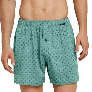SCHIESSER 2er Pack Herren Boxershorts Jersey Baumwolle anthrazit grün Essentials – Bild 2