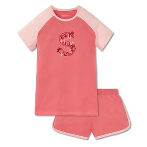 SCHIESSER Mädchen Schlafanzug kurz Jersey Raglan-Shirt Shorts grapefruit-orange Tropical Vibes