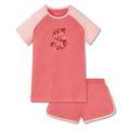 SCHIESSER Mädchen Schlafanzug kurz Jersey Raglan-Shirt Shorts grapefruit-orange Tropical Vibes 001