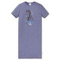 SCHIESSER Mädchen Nachthemd kurzarm Jersey Ringel blau-weiß  Pferdewelt 001