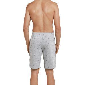 SCHIESSER Herren Hose kurz Bermuda Baumwolle Jersey Taschen grau meliert bedruckt  Mix & Relax – Bild 3
