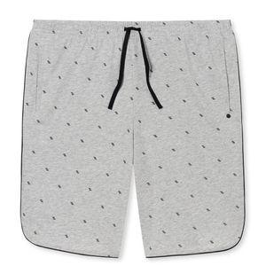 SCHIESSER Herren Hose kurz Bermuda Baumwolle Jersey Taschen grau meliert bedruckt  Mix & Relax – Bild 4