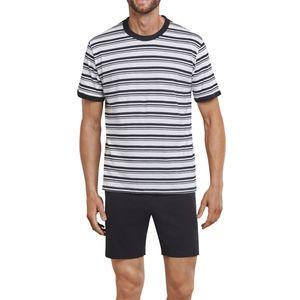 SCHIESSER Herren Schlafanzug kurz Jersey schwarz-weiß Ostuni – Bild 2