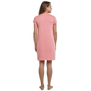 SCHIESSER Damen Nachthemd Sleepshirt 1/4-Arm 90cm Taschen Seesterne grapefruit-orange Garden Eden – Bild 3