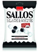 Sallos Black & White Salmiak Lakritz Dragees 135 g