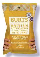 Burts Kartoffel-Chips Vintage Cheddar & Spring Onion (Cheddar Käse) 150 g