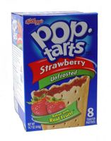 Kelloggs Pop-Tarts Strawberry Unfrosted (Erdbeere) 416 g