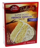 Betty Crocker Delights Super Moist Cake Mix French Vanilla 432 g