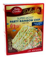 Betty Crocker Delights Super Moist Cake Mix Party Rainbow Chip 432 gr.
