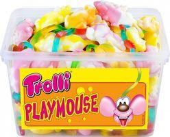 Trolli Mäusespass Playmouse Schaumzucker mit Fruchtgummi 75 Stück