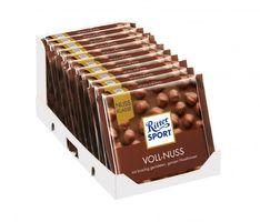 Ritter Sport Nuss-Klasse Voll-Nuss Schokolade 10 Tafeln