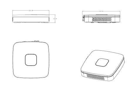 Rekorder XVR HDCVI DVR 4 Kanäle 4K intelligentes Videosystem SmartSearch – Bild 2