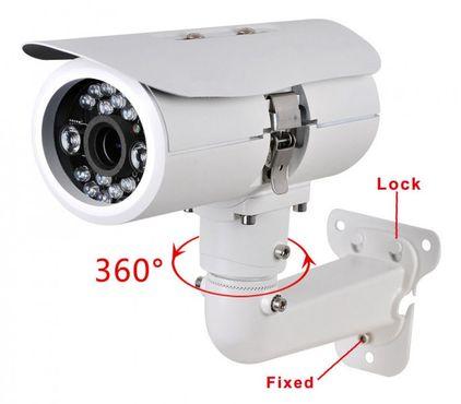Überwachungskamera Profi Kamera großes Gehäuse weiß gute Nachtsicht 700TVL
