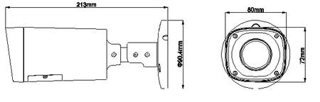 Hochauflösende HDCVI Kamera Full HD 60m Nachtsicht Motor Zoom OSD – Bild 2