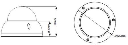 2.4MP HDCVI Domekamera 30m Nachtsicht wetterfest Motor Zoom – Bild 2