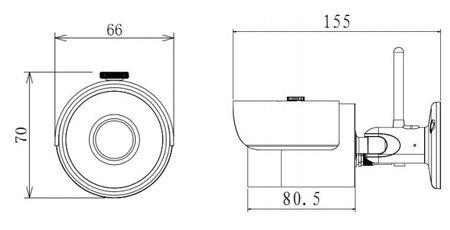 Funk Wi-Fi Anlage NVR 2x Netzwerk 720p HD Kameras Kit Smartphone Zugriff – Bild 4