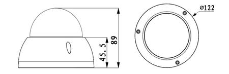 2 MP Full HD IP Kamera wasserfest vandalensicher DWDR 2.8~12mm Videoüberwachung – Bild 2