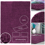 Hochflor Teppich *Uni Shaggy* Violett