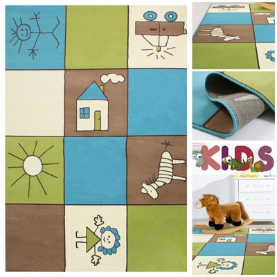 Kinderteppich *Fantasia-ll 702483* Karo Bunt – Bild 1