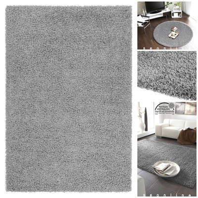Hochflor Teppich *Mono* Grau