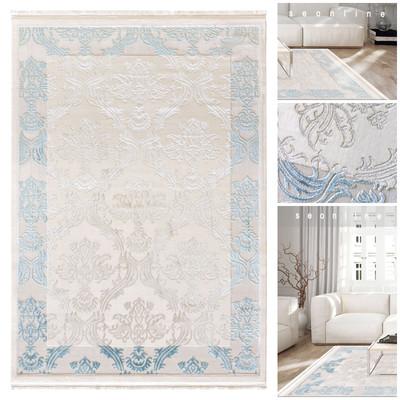 Acryl Teppich *Touch 3981D* Blau – Bild 1