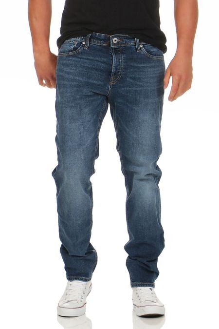 Jack /& Jones Herren Jeans Hose Slim Fit Skinny schwarz