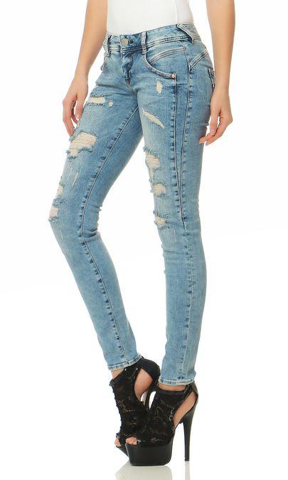 Herrlicher Gila Slim Powerstretch D9060 706 Damen Jeans Hose – Bild 2