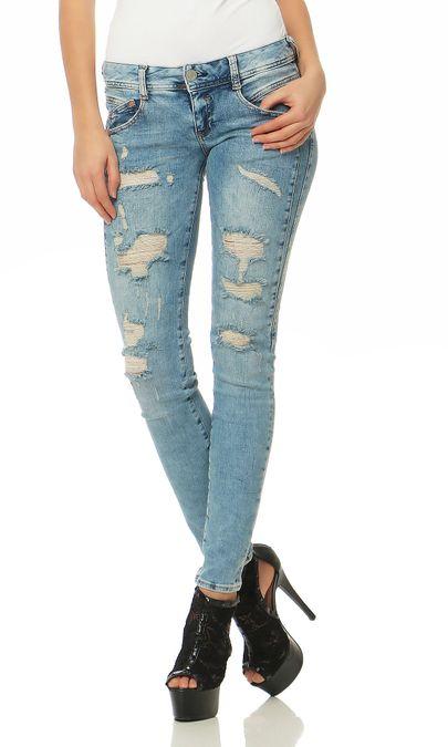 Herrlicher Gila Slim Powerstretch D9060 706 Damen Jeans Hose – Bild 1