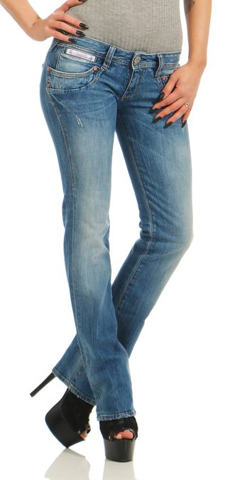 Details zu HERRLICHER PIPER Straight Denim Stretch D9900066 Blau Damen Jeans Hose