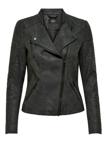 Only Ava Faux Kunstleder Biker Jacket Damen Jacke – Bild 10