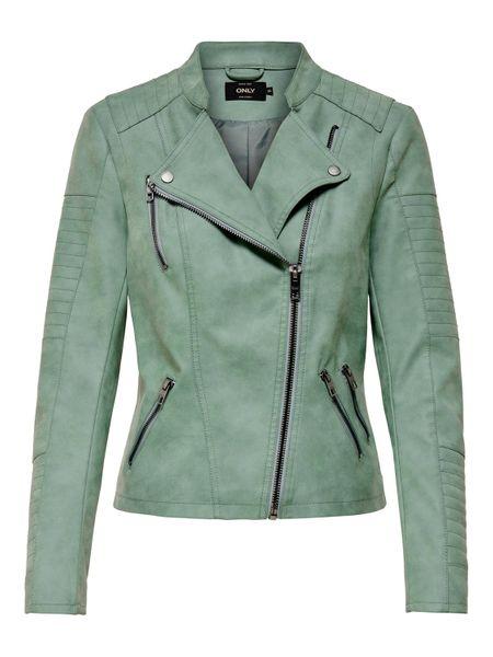 Only Ava Faux Kunstleder Biker Jacket Damen Jacke – Bild 12