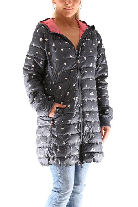 Blutsgeschwister Leichte Laune Long Jacket Damen Daunen Jacke Mantel – Bild 4